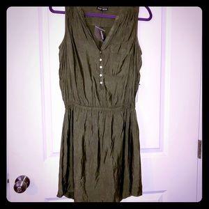 NWT Shimmery Olive utility dress